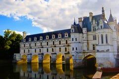 大别墅Chenonceau,卢瓦尔河流域,法国 免版税库存图片