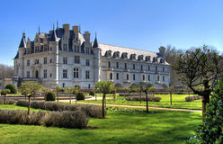 Chenonceau back garden Royalty Free Stock Photo