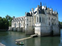 Chenonceau Castle. View of Castle of Chenonceau - France Europe in a summer day Stock Photos