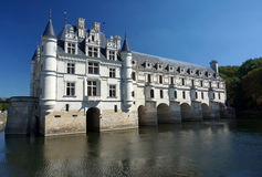 Chenonceau Castle on the Cher River Royalty Free Stock Images