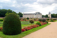 Chenonceau - Castle and garden. The Château de Chenonceau, near the small village of Chenonceau, in the Indre-et-Loire département of the Loire Valley in Stock Images