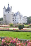 Chenonceau Castle & Garden. Chenonceau castle is one of the most famous castles of the loire valley in France. It is located in the village with the same Stock Image