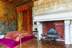 Chenonceau castle interior Royalty Free Stock Photo