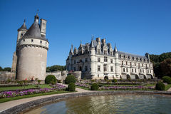 Chenonceau castle in Loire valley. In France Royalty Free Stock Images