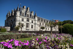 Chenonceau castle in Loire valley Royalty Free Stock Image