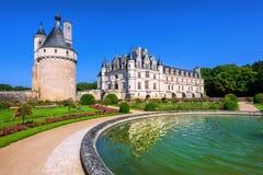 Chenonceau Castle, Loire Valley, France stock images