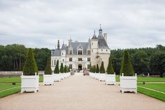 Chenonceau castle in Loire valley region Royalty Free Stock Photo