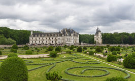 Chenonceau castle panorama Royalty Free Stock Photo