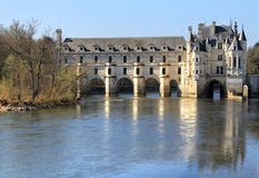Chenonceau castle reflection Stock Image