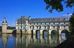 Chenonceau on the Cher Royalty Free Stock Image