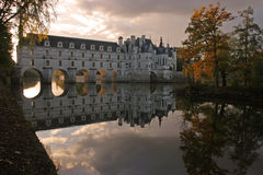 Chenonceau at Dusk Stock Photography