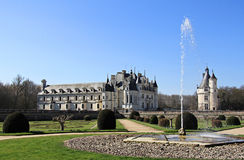 Chenonceau fountain Royalty Free Stock Photography
