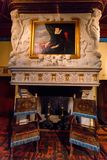 CHENONCEAU, FRANCIA - 15 GIUGNO 2014: Castello Chenonceau della camera da letto di Diane de Poitier Immagine Stock Libera da Diritti