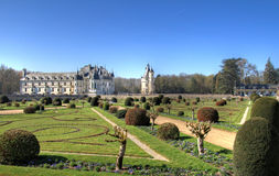 Chenonceau garden Stock Image