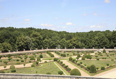 Chenonceau - Gardens Royalty Free Stock Image