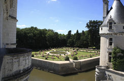 Chenonceau - Gardens Royalty Free Stock Photography