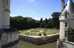 Chenonceau - giardini Fotografia Stock Libera da Diritti