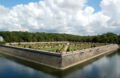 Chenonceau - giardino Fotografia Stock Libera da Diritti