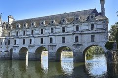 Chenonceau kasztel w Francja europejczycy Fotografia Royalty Free