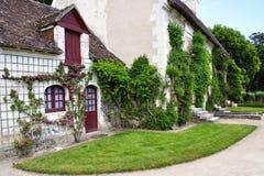 CHENONCEAU lantgård på chateauen de Chenonceau, Loire Valley slott Royaltyfri Fotografi