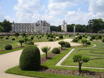 Chenonceau's gardens stock photos