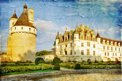 Chenonceau Schloss Stockfotos