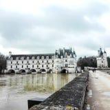 Chenonceau slott royaltyfria bilder