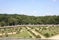 Chenonceau - Tuinen Royalty-vrije Stock Afbeelding