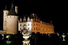 chenonceau zamku noc zdjęcie stock