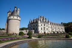 Chenonceaukasteel in de Loire-vallei Royalty-vrije Stock Afbeeldingen