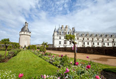 Chenonceaux. Castle of Chenonceaux in Loire, France Stock Photography