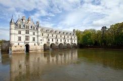 Chenonceaux. Castle of Chenonceaux in Loire, France Stock Images