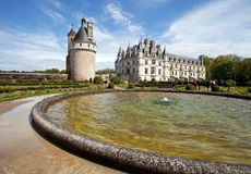 Chenonceaux. Castle of Chenonceaux in Loire, France Royalty Free Stock Images
