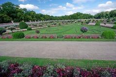 Chenonceaux beautiful garden Stock Photo
