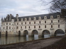 Chenonceaux castle in the center of France. Chenonceaux castle on the Cher in the center of France, castle being indexed in the Loire castles Royalty Free Stock Photography