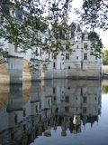 Chenonceaux castle in the center of France. Chenonceaux castle on the Cher in the center of France, castle being indexed in the Loire castles Royalty Free Stock Photos