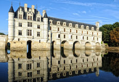 Chenonceaux. One of the nicest castles  at Loire Stock Images