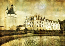 Chenonseau castle Royalty Free Stock Photography