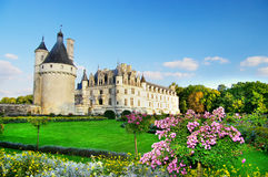 Chenonseau Schloss - Loire Valley Stockbilder