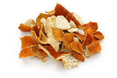 Chenpi, casca secada do tangerine, chinês tradicional ele imagens de stock