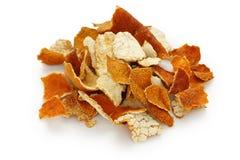 Chenpi, peau sèche de mandarine, chinois traditionnel il images stock