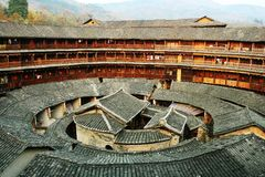 Chenqi Fujian Tulou royalty free stock photos