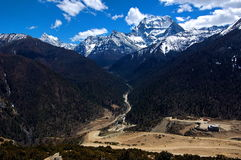 Chenrezig Peak, Yading, China Royalty Free Stock Photography