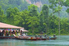Cheo Lan in Khao Sok National park, Thailand Stock Photo