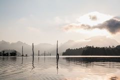 Cheo Lan lake. Khao Sok National Park. Thailand. Royalty Free Stock Photo