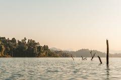 Cheo Lan lake. Khao Sok National Park. Thailand. Royalty Free Stock Images