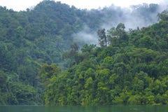 Cheo Lan lake in Khao Sok National park, Thailand. Landscape of a rainforest in Khao Sok National park. Thailand Stock Photos