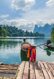 Cheo Lan Lake in the Thai Reserve Royalty Free Stock Photo