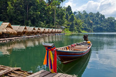 Cheo lan lake in Thailand Royalty Free Stock Images