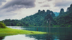 Cheo Lan Lake in Thailand. Low Season Royalty Free Stock Images